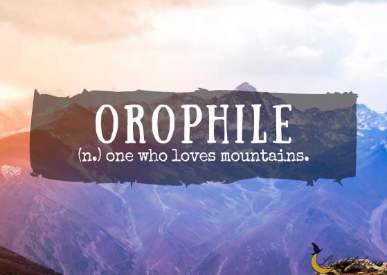 Orophile