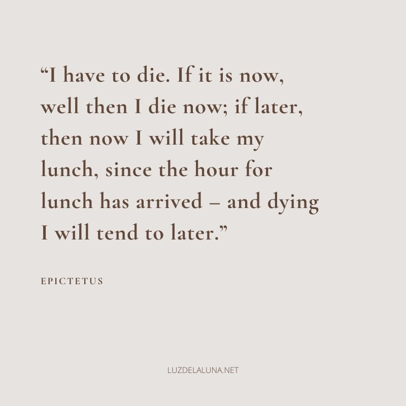 stoic quotes on death